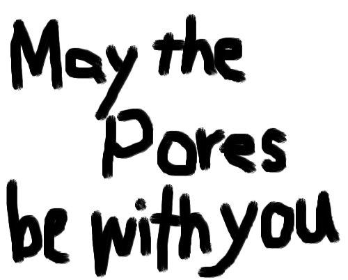 maytheporesbewithyou